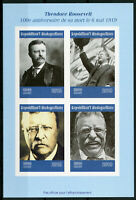 Madagascar 2019 MNH Theodore Roosevelt 4v IMPF M/S US Presidents People Stamps