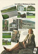 Publicité 1981 Les tailleurs Weinberg en Irlande pret à porter collection mode