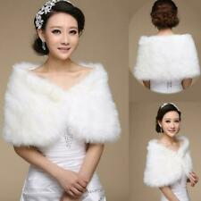 Bridal Faux Fur Coat Jacket Shawl Cape Wrap Bolero Shrug H8C3 New Cloak Sca P6M9