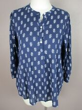 Old navy T297 Size M Women's Blue V Neck Long Sleeve Tunic