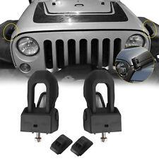 Black Hood Lock Catch Bracket Latches Buckle Kit For 2007-2018 Jeep Wrangler Jk