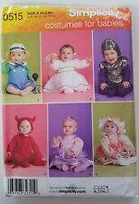 Simplicity 2835 0515 Costume For Babies XS Small Med Large UC FF Andrea Schewe