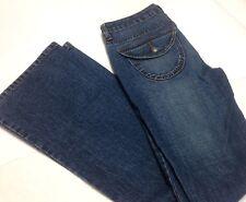 "Mossimo Jeans Misses Juniors Size 7  Medium Wash Pants 32"" Inseam Boot Cut"