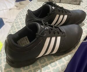 Adidas Traxion Classic Golf Shoes - Black/White Mens UK 10 US 10.5 Cleated