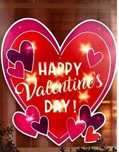 Valentine's Day Lighted Heart Window Decoration - 1 Piece
