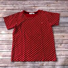Play Comme Des Garcons Polka Dot Red Heart Short Sleeve Tee Sz L Womens
