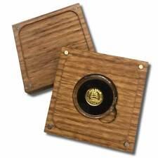 1 Gram .9999 Fine Gold Round in a Capsule with Box - Sailing Ship Design - BU