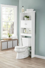 Bathroom Over The Toilet Storage Cabinet Space Saver Wit Organizer Shelves White