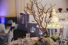 "1 - 30"" Manzanita Wedding Centerpiece w/ wood box, lights, and acrylic crystals"