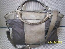 Liebeskind Bailey Tasche Handtasche Shopper Leder Canvas khaki in 48,0 x 38,0 cm