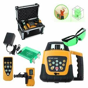 Self-leveling Rotary Green/Red Laser Level kit 150 meter distance - UK Stock
