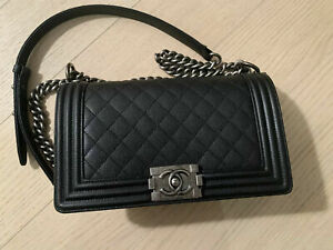 Brand New Chanel Le Boy Bag Old Medium Black Caviar