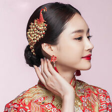 Chinese Classical Women Hairpin Hair Comb Peacock Alloy Bride Accessories