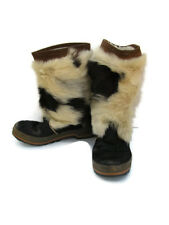 Oscar Sport Mirage Womens Fur Boots Italy Animal Hair Two Tone (Size Unclear)
