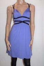 Miss Shop Designer Lilac Black Trim Day Dress Size 10 BNWT #TD82