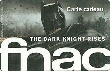 RARE / CARTE CADEAU FNAC : BATMAN - THE DARK KNIGHT / CARD