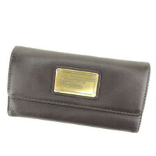 Marc By Marc Jacobs Wallet Purse Brown Gold Woman unisex Authentic Used A1493