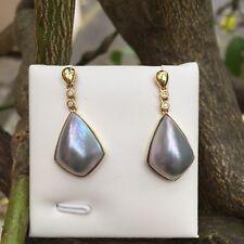 Baroque Pearl AAAA 100 Natural Purple 14k Gold Filled Earring Original Works 13