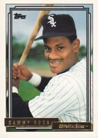 1992 Topps Gold Baseball Cards Pick From List