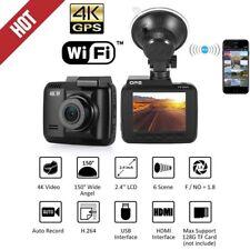 4K 2160P WiFi Car LCD DVR Recorder 4MP GPS Dash Motion Cam G-sensor App Camera
