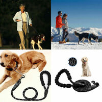Heavy Duty Short Lead Padded Handle Soft Control Leash Training For Guide Dog UK