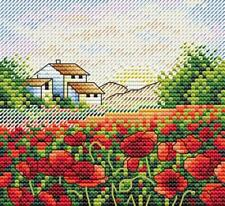 MP Studia Counted Cross Stitch Kit -  Poppy Morning