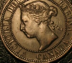 Old Canadian Coins 1900 H Canadian Large Cent Canada Highgrade Sharp