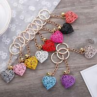 Birthday Jewelry Heart Hollow Key Chain Charm Pendant KeyChain Handbag