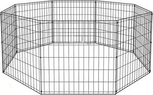Portable Folding Pet Playpen Dog Crate Fence Kennel24 Tall Exercise Cage 8 Panel