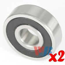 2pc Miniature Ball Bearing 9x24x7mm WJB 609-2RSTN 2 Rubber Seals & Nylon Cage