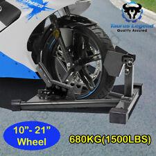 680kg Heavy Duty Adjustable Motorcycle Front Wheel Chock Motorbike Trailer Stand