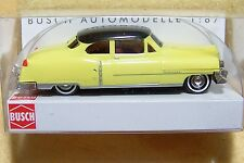 Ho Busch Yellow 1952 Cadillac Coupe 1/87 scale Model Car 43430