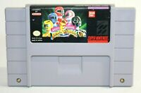 Mighty Morphin Power Rangers SNES Super Nintendo Authentic & Tested! NICE Shape!