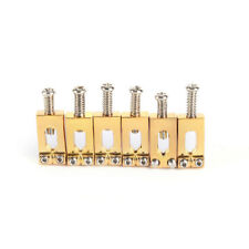 6x roller bridge tremolo saddles for tele electric guitar gold&silver&blevsBLBD