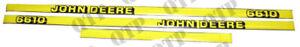 JOHN DEERE 6610 INC SE DECAL KIT