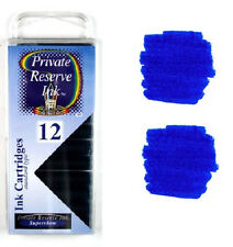 Private Reserve Fountain Pen Ink Cartridges - DC Supershow Blue - Fits Montblanc