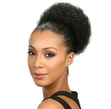 Kinky Ponytail Hair - Curly Afro Puff String Synthetic Hair Extension Colour 2