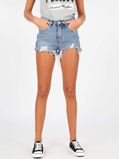 Shorts Frau Jeans Shorts Hot Pants Denim Pin-Up Sexy Zerrissen Baumwolle Mode