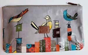 New! Fossil Key-Per Coated Convas Clutch Cosmetic Make Up Bag!