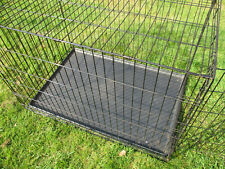 Folding Dog Puppy Metal Training Cage Crate Black Carrier