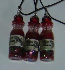 VIPER VENOM Potion Bottle Vial Pendant Necklace Glow in the dark Handmade