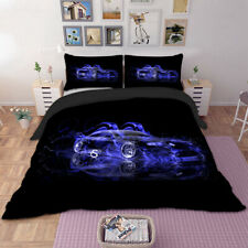 3D Racing Car Duvet Cover Quilt Cover Boys Bedding Set with Pillowcases All Size