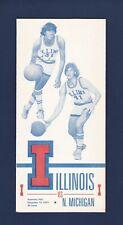 University of Illinois vs Northern Michigan 1973 college Basketball program