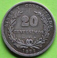 URUGUAY 20 CENTESIMOS 1877 ARGENT