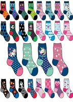 Girls Boys 6 or 12 Pairs Children's Kids Soft Socks Designer Character Print