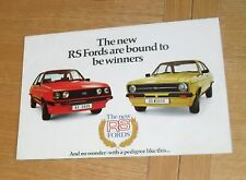 * Ford Escort RS - Rallye Sport Brochure 1976 - Escort RS2000 & RS Mexico *