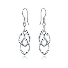Fashion Women Silver Plated Fashion Lady Dangle Ear Stud Hoop Earrings Jewelry