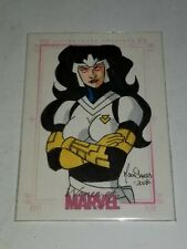 2008 Rittenhouse Archives - Women of Marvel Sketch Card - Mark Dos Santos