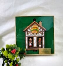 Vtg Christmas Ornament Cottage Twirl About Boy Girl 1977 Hong Kong NOS