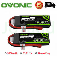 2X Ovonic 3000mAh 11.1V 50C 100C 3S Lipo Battery Deans For FPV RC Drone Airplane